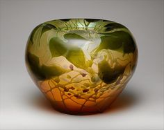 Vase designed by Louis Comfort TIffany, made by Tiffany Furnaces, circa 1903, New York City, New York, American, favrile glass