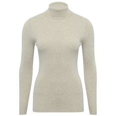 M&Co Ribbed Roll Neck Jumper ($27) ❤ liked on Polyvore featuring tops, sweaters, oatmeal, white long sleeve sweater, white sweater, layered sweater, turtle neck sweater and roll neck sweater
