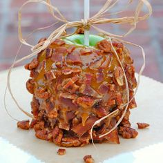 Jason, I know you're not crazy about apples on sticks, but this is a Chipotle Bacon Pecan Caramel Apple. Yum, yum, lol.  :):)