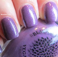 Black Dahlia Lacquer 90 In November, from the Capital Collection, 3 coats with top coat