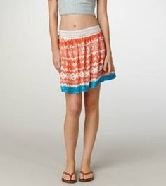 #American Eagle Outfitters                          #Skirt                    #Tribal #Flared #Skirt    AE Tribal Flared Skirt                              http://www.seapai.com/product.aspx?PID=1081619