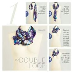 Fashion in Infographics : Photo - The double loop - scarf styles.
