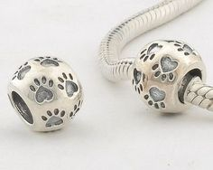 """925 Sterling Silver European Style Antique Silver """"Dog Paw Print"""" Charms/beads for Pandora, Biagi, Chamilia, Troll and More Bracelets: Jewelry Pandora Jewelry, Pandora Charms, Pandora Beads, Pandora Bracelets, Charm Bracelets, Dog Footprint, European Fashion, European Style, Fashion Lookbook"""