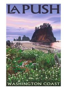 La Push, Washington - Coast - Lantern Press ArtworkQuality Poster Prints Printed in the USA on heavy stock paper Crisp vibrant color image that is resistant to fading Standard size print, ready for framing Perfect for your home, office, or a gift National Park Posters, National Parks, Best Places To Travel, Places To See, La Push Washington, Forks Washington, Road Trip Usa, Vintage Travel Posters, Retro Posters