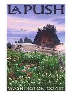La Push, Washington Coast - Been there, done that, and it was gorgeous!  La Push.  La Push.