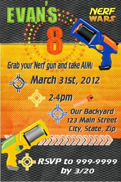 Nerf Wars Party!!!