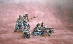 Jacksarge Brushes & Battles: Hotchkiss HMG team - WW1 French