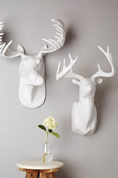 handmade stag wall bust #anthrofave use code HOLIDAY20 for 20% off