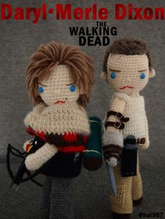 Daryl and Merle Dixon Crochet doll. - TWD