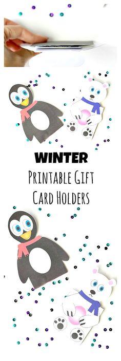 Printable Winter Gift Card Holders