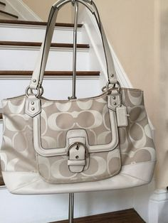 COACH Carryall Khaki/parchment Tote 👜 #Coach #Tote #discounted