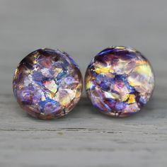 Opal Earrings Lavender Lace Amethyst Purple Yellow by ArtisanTree, $18.00