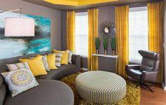 Güneş Sarısı Perdeler Daha Aydınlık Mekanlar - Tasarım ve Dekorasyon