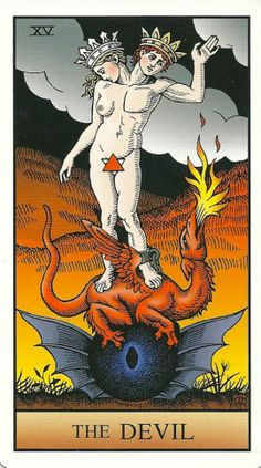 The Devil - Alchemical Tarot Renewed by Robert M. Place -- If you love Tarot,visit me at www.whiterabbittarot.com