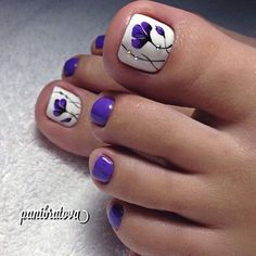 The Fundamentals of Toe Nail Designs Revealed Nail art is a revolution in the area of home services. Nail art is a fundamental portion of a manicure regimen. If you're using any form of nail art on your nails, you… Continue Reading → Pretty Toe Nails, Cute Toe Nails, Fancy Nails, Toe Nail Art, My Nails, Purple Toe Nails, Purple Toes, Beach Toe Nails, Pretty Toes