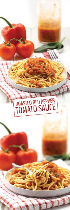Ditch the jars and whip up this flavorful and veggie-packed Roasted Red Pepper and Tomato Sauce. Made from whole fresh tomatoes and red peppers, this sauce is sure to be a winner with the whole family!