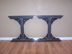 Industrial factory style heavy duty steel tube legs dining table pedestal base