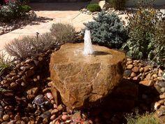 Bubbling Rock Waterfeature provided by Wildflower Landscape Thornton 80241