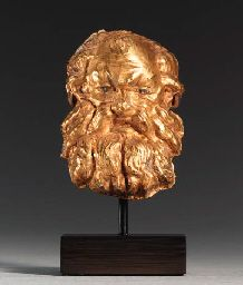 A GREEK GOLD APPLIQU     									LATE CLASSICAL TO EARLY HELLENISTIC, LATE 4TH CENTURY B.C.
