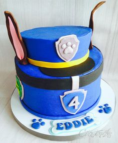 Paw Patrol Chase Birthday Cake- Caketopolis