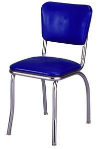 Bright Blue Diner Chair