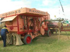 Colin Benney's Ransomes, Simms and Jeffreys thrashing machine.
