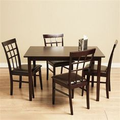 Warehouse of Tiffany�Justin Light Cappuccino Dining Set
