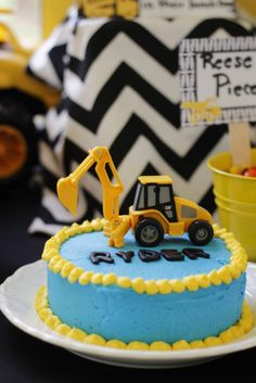 Adventures with the Austins A Tonka Truck party Dump cake My