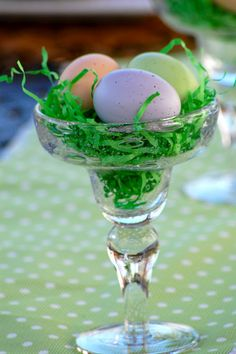 Easter Table Centerpieces @ www.home-with-heather.blogspot.com