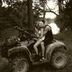 I'm not a fan of those girly magazines or whatever, but I love the idea of ATV riding :)