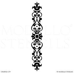 Tall Wall Panels Borders for Decorative Painting - Modello Custom Wall Art Stencils