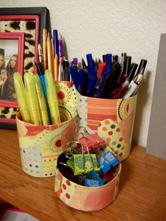 Recycled Desktop Organizer Tutorial | Can Can Dancer