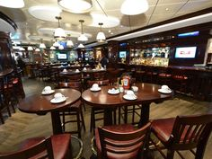 O'Sheehan's, a pub-like sports bar and grill that first debuted on Norwegian Epic in 2010, is back in a similar form on Norwegian Breakaway. It serves fish and chips, burgers and other classic pub food. Amusements include miniature bowling, pool and air hockey tables, and interactive arcade games.