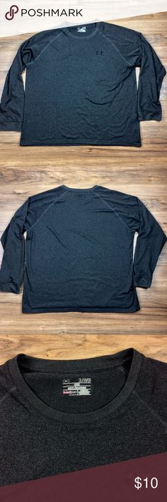 Under Armour Men's Shirt Men's Under Armour long-sleeve heat gear shirt. Loose fitting shirt. Small tear, front at bottom of shirt. Under Armour Shirts Tees - Long Sleeve