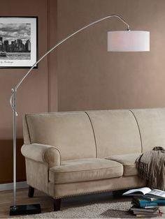 Avant Brushed Adjustable Floor Lamp on Gilt
