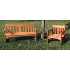 English Style Garden Bench and Chair Plan