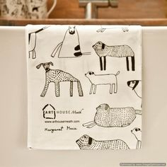 Arthouse Meath - Dogs Tea Towel - Charity £7.25
