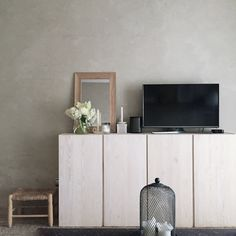 IKEA Ivar Cabinets as entertainment stand Home Living Room, Living Room Furniture, Living Room Decor, Ikea Ivar Cabinet, Fashion Room, My New Room, Decoration, Room Inspiration, Furniture Design