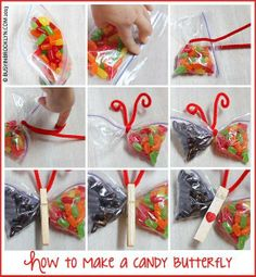 Fun craft to do with your kids, campers or students! Fun craft to do with your kids, campers or students! Birthday Treats, Diy Birthday, Birthday Parties, School Birthday, Birthday Gifts, Butterfly Snacks, Butterfly Crafts, Butterfly Bags, Butterfly Birthday Party