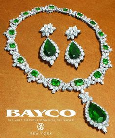 "1,280 свиђања, 15 коментара -  Bayco Jewels (@baycojewels) у апликацији Instagram: ""Enjoy #BaycoJewels rare emeralds - necklace set with 17 emerald-cut Colombian emerald weighing 31…"""