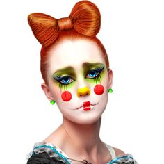 Mes tubes clown ❤ liked on Polyvore featuring dolls, people, circus, doll heads und faces