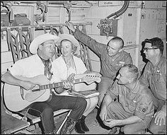 Vietnam War Picture - Roy and Dale Rogers Entertaining Crew Members of an Air Force C-123 Provider. This relates to my book because roy and dale were mentioned in my book and the characters loved them.