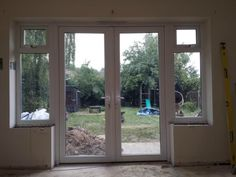 1800MM X 2100MM WHITE PVC uPVC FRENCH DOOR WITH SIDES WINDOWS/PANELS | eBay