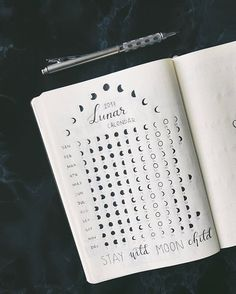 Lunar phases of 2017 | Bullet Journaling Ideas