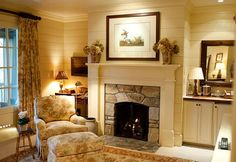 Pretty fireplace, cozy room