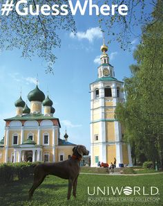 Hitch is at the The Transfiguration Cathedral in the Uglich kremlin and was built in 1713. Uglich sits on the Volga River.