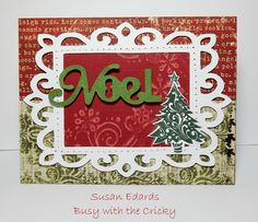 Cricut cartridge A Quilted Christmas card ideas