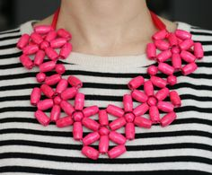 Pink Big Bead Necklace by YourStyleAdvisor on Etsy