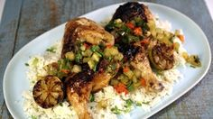 Grilled Chicken with Mango BBQ Sauce Recipe   The Chew - ABC.com