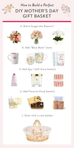 What better way to celebrate Mothers Day than with a gift basket full of things she loves? Heres a gift guide with plent Diy Mother's Day Gift Basket, Gift Baskets For Women, Holiday Gift Baskets, Birthday Gift Baskets, Diy Gift Baskets, Raffle Baskets, Birthday Gifts, 21st Birthday, Mothers Day Baskets